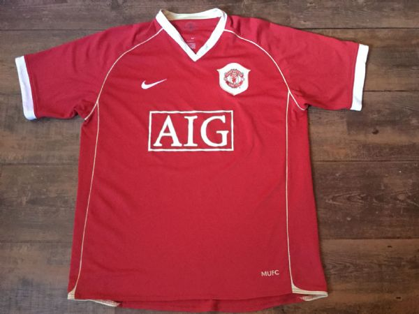 2006 2007 Manchester United Home Football Shirt Adults Large